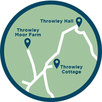 throwley hall location map