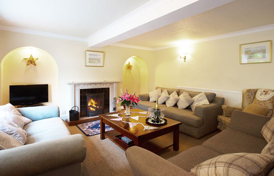 throwley moor farmhouse living room