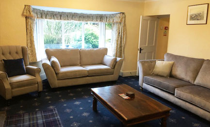 farmhouse living room at throwley